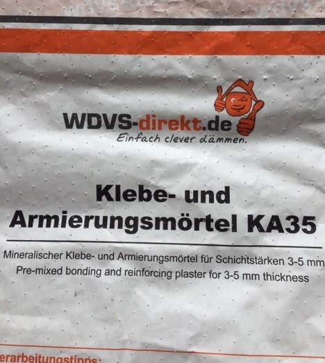 Klebe- u. Armierungsmörtel KA35 grau/weiß á 25 kg