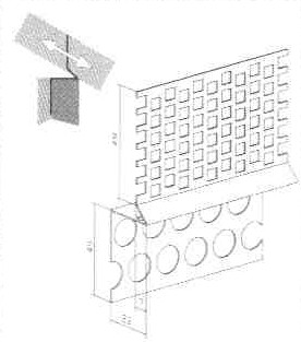 Abschlussprofil Dachbelüftung Alu á 50m(25x2m)